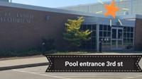 Pool entrance 3rd Street